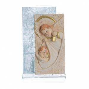 Cadre Ange papier soie bleu clair h 11,5 cm s1