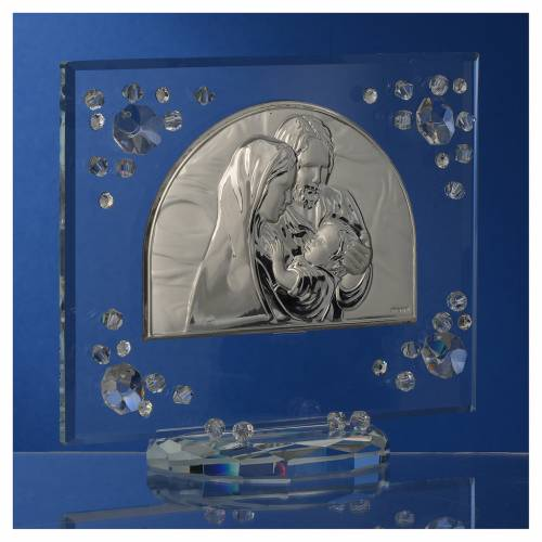 Cadre arc image Ste Famille Swarovski blanc s3