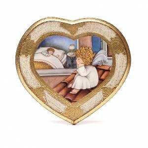Cadre Coeur Ange sur toit blanc s1