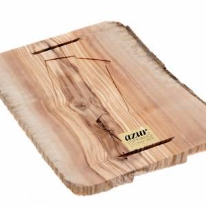 Cadre en bois, croix taillée Azur Loppiano s2