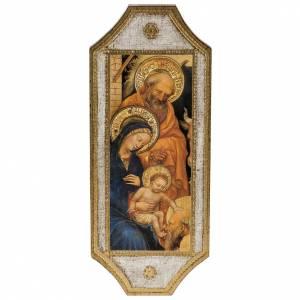 Cadre imprimé sur bois Nativité 18,5x7 s1