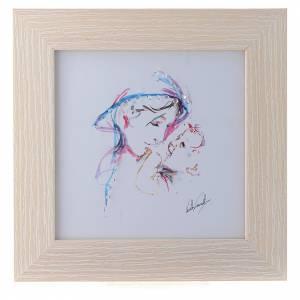 Bonbonnières: Cadre Mère Protectrice impression aquarelle 16x16 cm