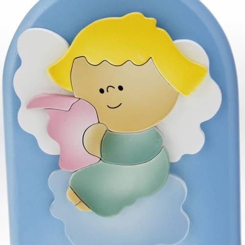 Cadre religieux bois ange qui lit 2