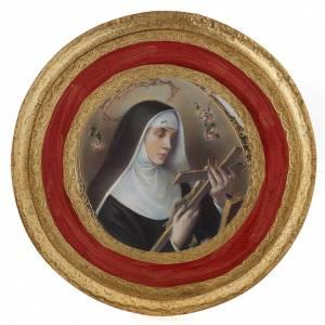 Cadre Sainte Rita imprimé sur bois rond s6