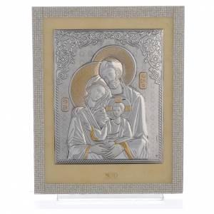Bonbonnières: Cadre Ste Famille orthodoxe Swarovski blancs 25x20 cm