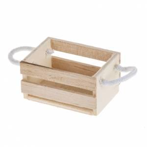 Herramientas de trabajo: Caja de madera con asas de cuerda