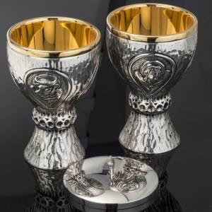 Calices Ciboires Patènes en métal: Calice ciboire Molina laiton 4 évangélistes