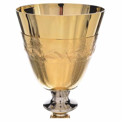 Calice coppa argento 925 spighe di grano s2