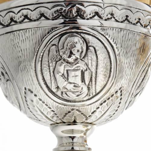 Calice pisside patena ottone argento croce celtica decori s4