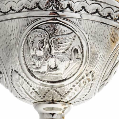 Calice pisside patena ottone argento croce celtica decori s5