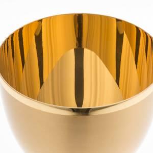 Cálices, Copones y Patenas metal: Cáliz de latón dorado opaco 13cm