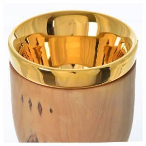Cáliz de olivo de Asís con copa de cerámica de Deruta 17cm s4