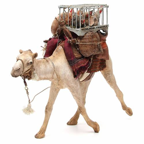 Camel with cages and hens 30cm Angela Tripi s1