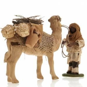 Camel with man, standing, Neapolitan nativity figurine 10cm s4