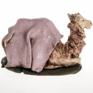 Belén terracota Deruta: Camello rosado en terracota de 18cm