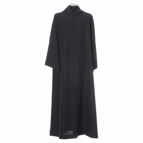 Camice benedettino nero poliestere s5