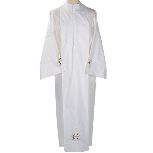 Camice bianco cotone alfa e omega s1