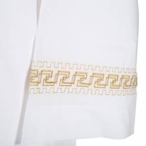Camice bianco cotone decori torciglioni dorati s3