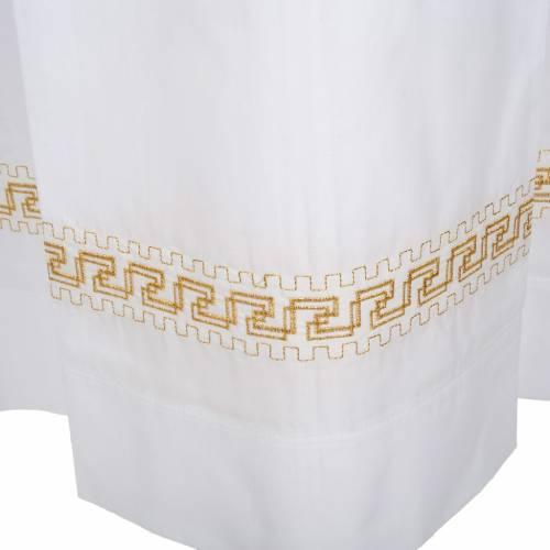 Camice bianco cotone decori torciglioni dorati s5