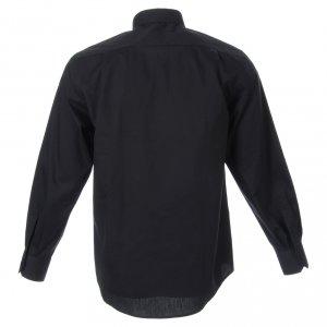 Camisas Clergyman: Camisa clergy de popelina manga larga negra