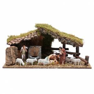 Capanne Presepe e Grotte: Capanna in legno fontana 25x55x20 cm