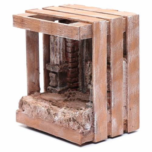 Capanna per presepe in legno 20x15x15 cm s2
