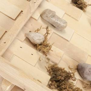 Capanne Presepe e Grotte: Capanna presepe legno naturale 60x30x30 cm