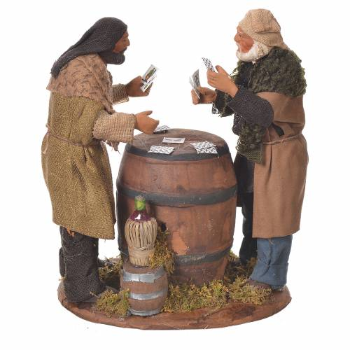 Card players with cask, Neapolitan Nativity 12cm s3