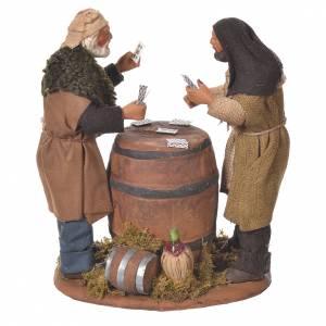 Neapolitan Nativity Scene: Card players with cask, Neapolitan Nativity 12cm