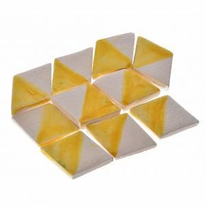 Carrelages mini-rhombes crèche 60 pcs terre cuite émaillée jaune s1