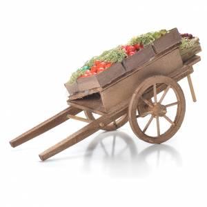 Belén napolitano: Carreta con cajas de fruta belén napolitano 10x18x8 cm