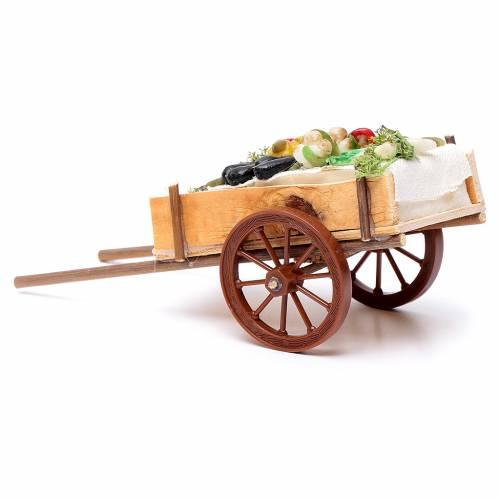 Carretto napoletano ortaggi frutta cera dim. 6x15x6 cm s3