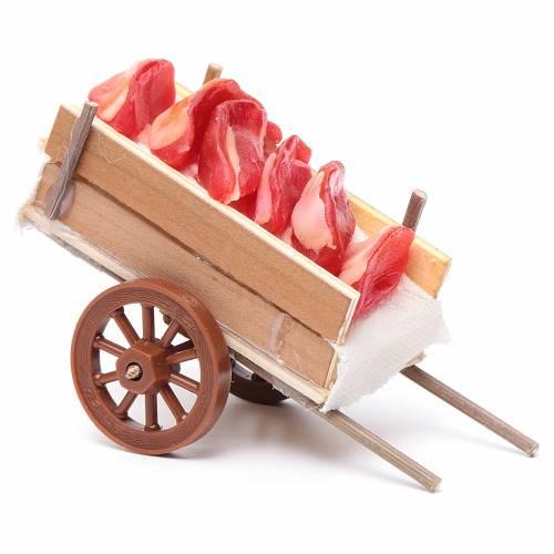 Carro presepe napoletano carne cera 5x11x5 cm s2