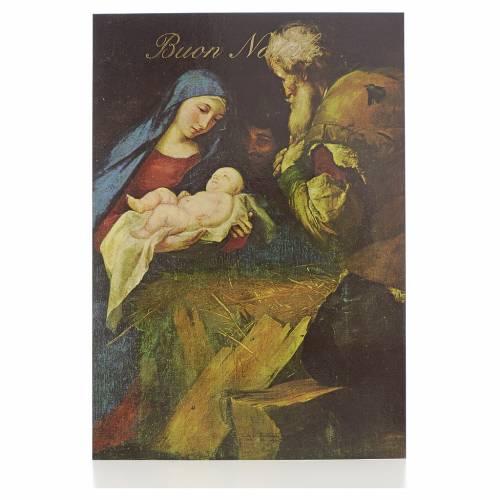 Cartolina postale con Natività s1