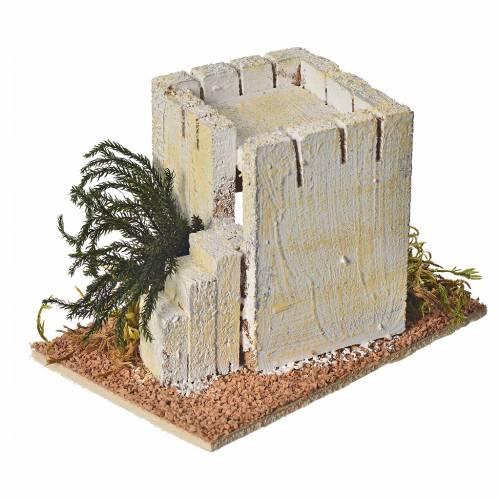 Casa araba legno per presepe 8x14x9 cm s4