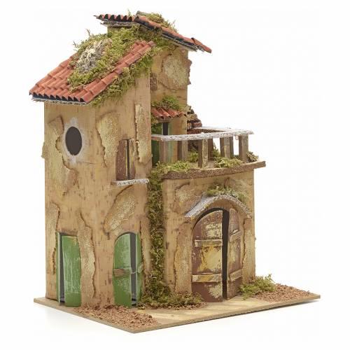 Casa con balcón cm 21x16 s2