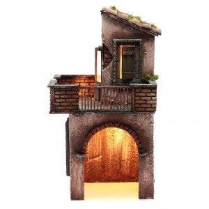 Belén napolitano: Casa de madera para belén napolitano 41x22x20 cm
