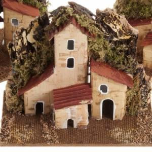 Ambientazioni, botteghe, case, pozzi: Casa presepe legno su base