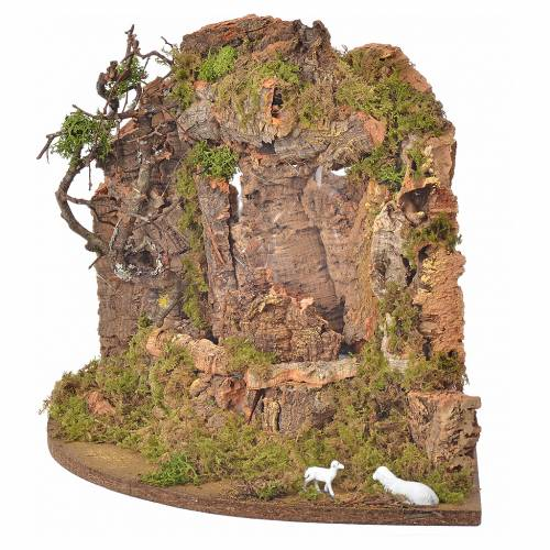 Cascade avec pompe, décor crèche 30x32x30cm s3