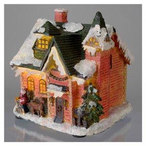Casetta innevata villaggio invernale 15x10x15 s3