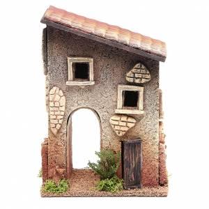 Ambientazioni, botteghe, case, pozzi: Casetta rurale in sughero 18x15x13 cm presepe