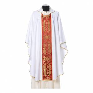 Casula con stolone fronte tessuto Vatican 100% poliestere s6
