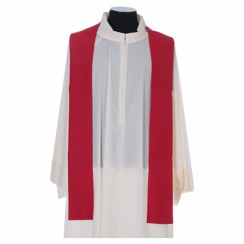 Casula liturgica croce uva lampada, con stola s7