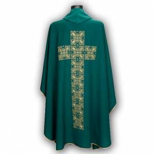 Casula liturgica e stola ricamo croce grande s6