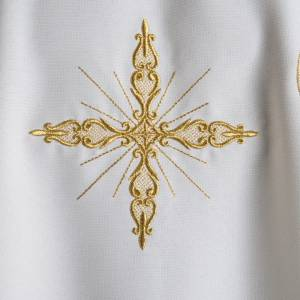 Casula liturgica ricamo dorato croce s4