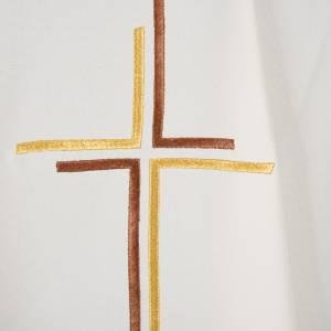 Casula sacerdotale croce doppia stilizzata poliestere s10
