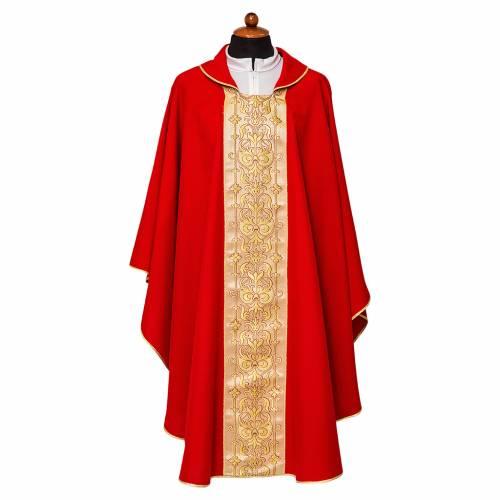 Casula stolone davanti tessuto Vatican 100% poliestere s1
