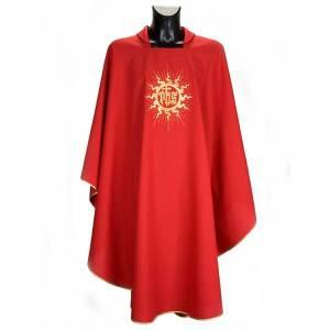 Casulla litúrgica con estola, sol y cruz s4