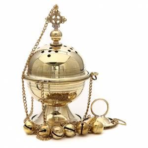 Censer in brass Bethlehem monks 23cm s2