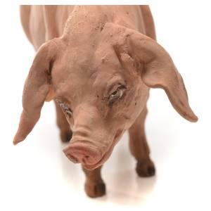 Cerdo Belén 18 cm Angela Tripi terracota s3
